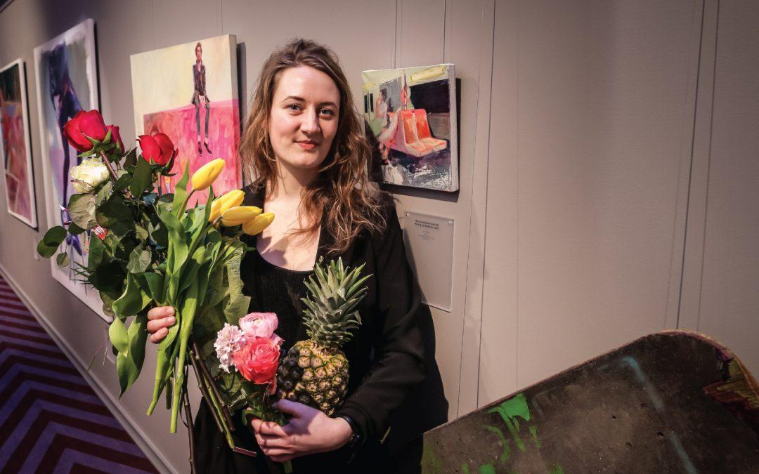 Atklāta gleznotājas Ellas Mežules personālizstāde