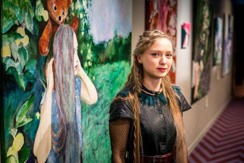 Открыта персональная выставка художницы Кристине Рубловски